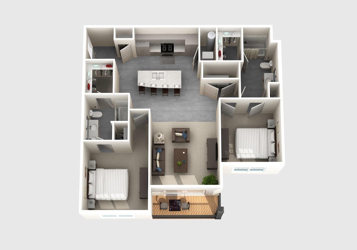 The Fulton floor plan