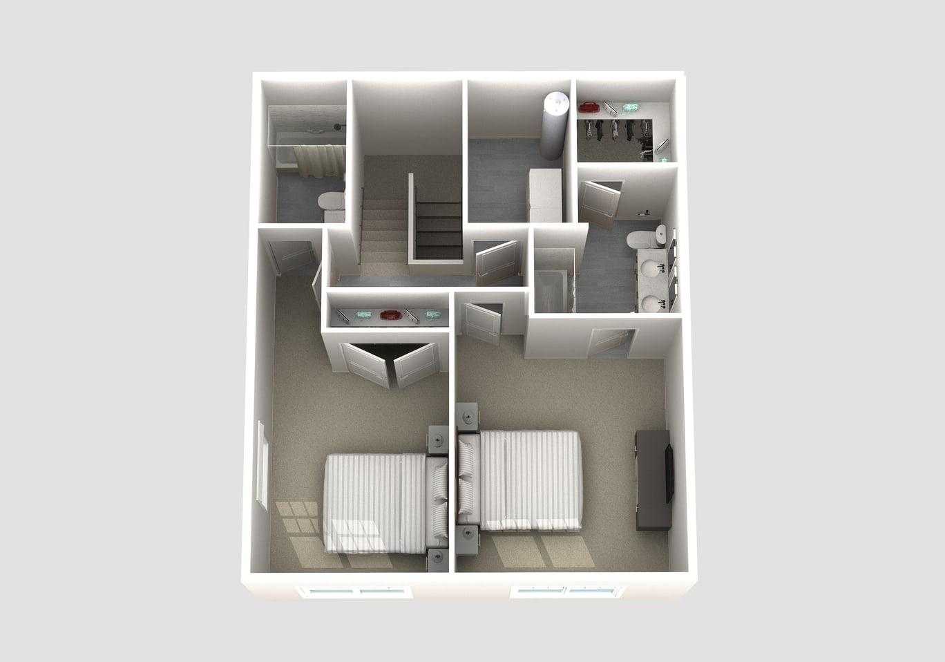 The Hamilton floor plan second floor